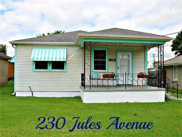 230 Jules Avenue, Jefferson, LA 70121 (MLS #2103144) :: Crescent City Living LLC