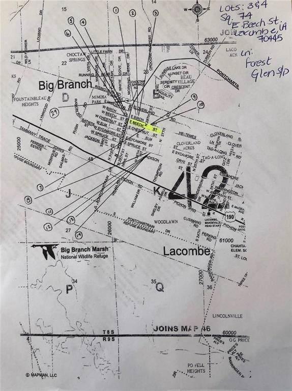 LOTS 3 & 4 E Beech Street, Lacombe, LA 70445 (MLS #2209426) :: Turner Real Estate Group