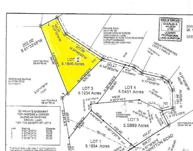 Lot 2 Whitton Road, Petersburg, KY 41080 (MLS #553360) :: Parker Real Estate Group