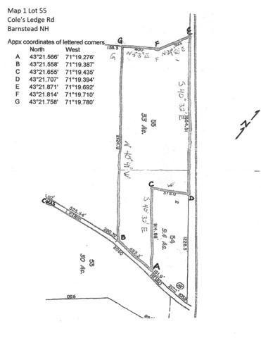 Lot 55 Cole's Ledge Road Map 1 Lot 55, Barnstead, NH 03225 (MLS #4712857) :: Keller Williams Coastal Realty