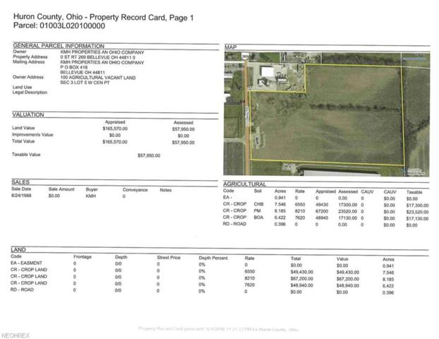 23.49 ac V/L State Route 269, Bellevue, OH 44811 (MLS #4045753) :: Keller Williams Chervenic Realty