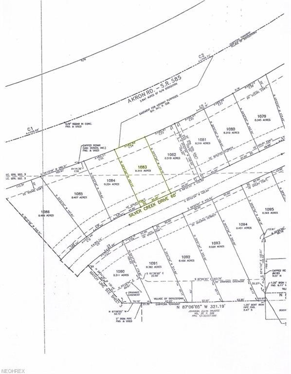 Lot# 1083 Silver Creek Dr, Doylestown, OH 44230 (MLS #3719593) :: Keller Williams Chervenic Realty