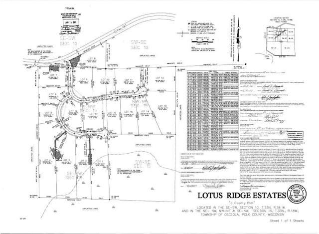 Lots 6 & 7 99th Avenue, Osceola, WI 54009 (#5318712) :: The Michael Kaslow Team