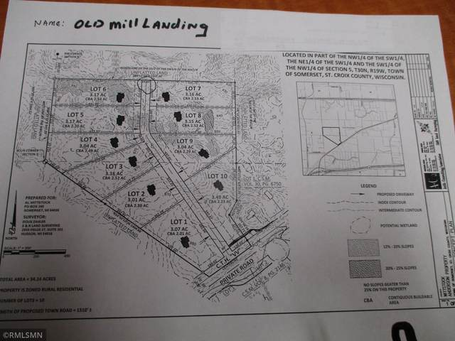xxx lot 1 County V V Old Mill Landing, Somerset, WI 54025 (#5747168) :: Twin Cities Elite Real Estate Group | TheMLSonline