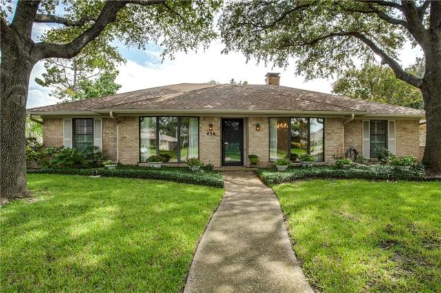 436 Sheffield Drive, Richardson, TX 75081 (MLS #13676626) :: The FIRE Group at Keller Williams