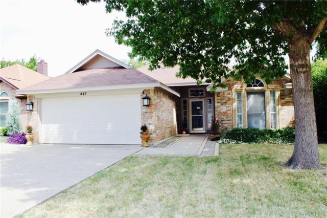 447 Pebblecreek Drive, Keller, TX 76248 (MLS #13695940) :: Exalt Realty