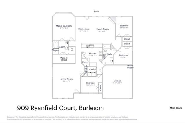 909 Ryanfield Court, Burleson, TX 76028 (MLS #13703647) :: Century 21 Judge Fite Company