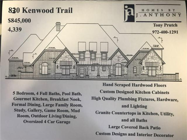 830 Kenwood Trail, Lucas, TX 75002 (MLS #13711135) :: Frankie Arthur Real Estate