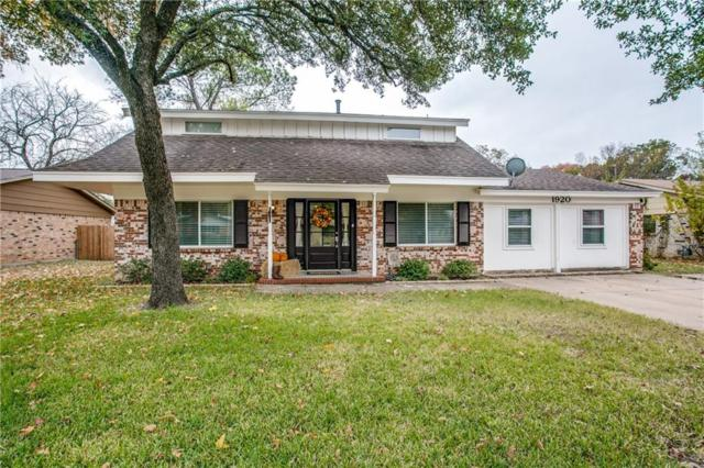1920 Charleston Drive, Bedford, TX 76022 (MLS #13730358) :: The Mitchell Group