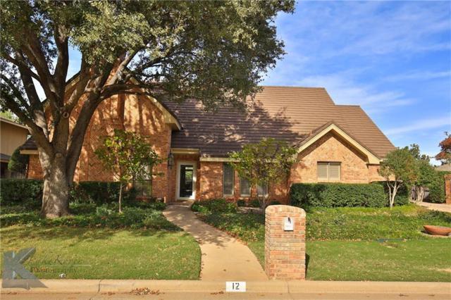 12 Cypress Point Street, Abilene, TX 79606 (MLS #13733869) :: The Tonya Harbin Team