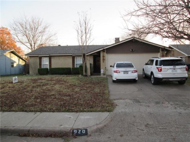 920 Bennett Street, Cedar Hill, TX 75104 (MLS #13744853) :: RE/MAX Pinnacle Group REALTORS