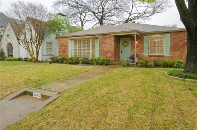 4085 Purdue Avenue, University Park, TX 75225 (MLS #13785256) :: Team Hodnett