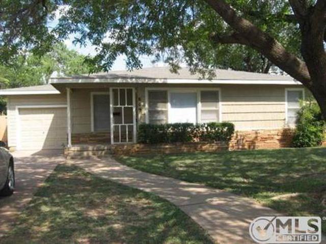 809 Buccaneer Drive, Abilene, TX 79605 (MLS #13788902) :: The Tonya Harbin Team