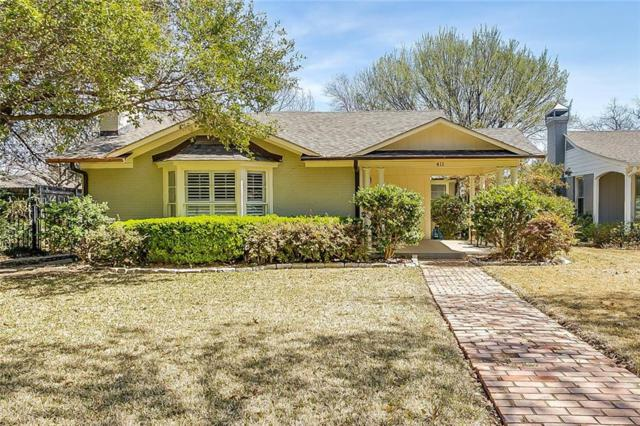 411 Monticello Drive, Fort Worth, TX 76107 (MLS #13790300) :: Kindle Realty