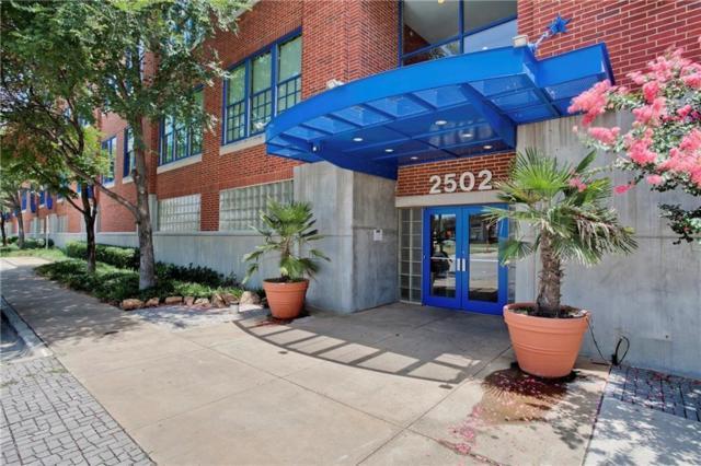 2502 Live Oak Street #327, Dallas, TX 75204 (MLS #13792460) :: Baldree Home Team