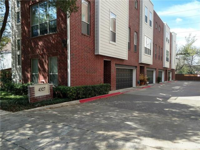 4327 Buena Vista Street #8, Dallas, TX 75205 (MLS #13794620) :: NewHomePrograms.com LLC
