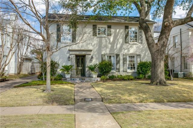 4516 Stanhope Street, University Park, TX 75205 (MLS #13798013) :: Robbins Real Estate Group