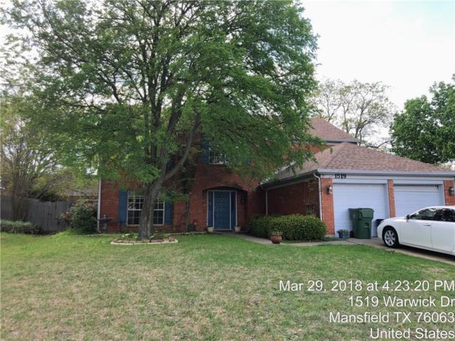 1519 Warwick Drive, Mansfield, TX 76063 (MLS #13809416) :: The Rhodes Team