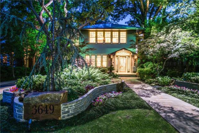 3649 Maplewood Avenue, Highland Park, TX 75205 (MLS #13838442) :: Robbins Real Estate Group