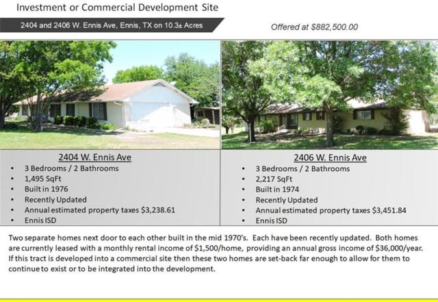 2404 W Ennis Avenue, Ennis, TX 75119 (MLS #13848433) :: Kimberly Davis & Associates