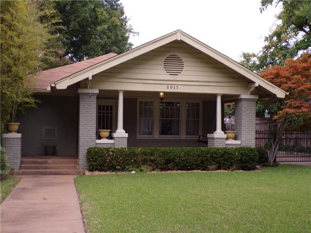 2017 Hillcrest Street, Fort Worth, TX 76107 (MLS #13885805) :: Magnolia Realty