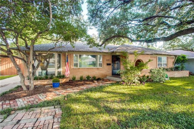 6347 E Lovers Lane, Dallas, TX 75214 (MLS #13932434) :: The Mitchell Group
