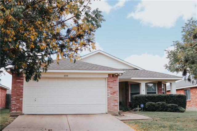 1533 Warrington Way, Forney, TX 75126 (MLS #13939561) :: RE/MAX Town & Country