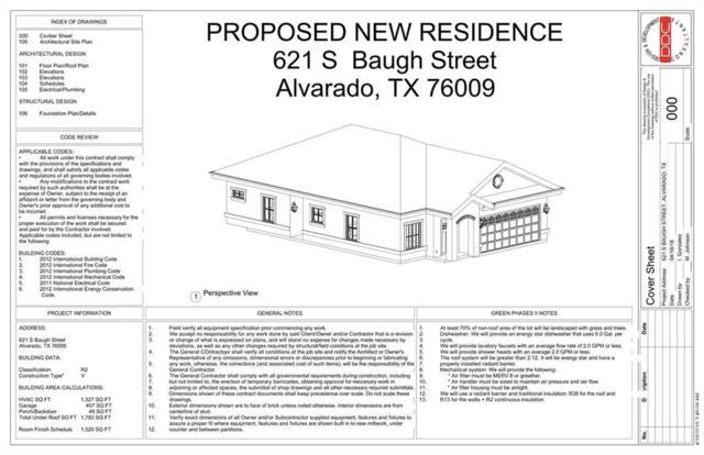 621 S Baugh Street, Alvarado, TX 76009 (MLS #13939938) :: RE/MAX Pinnacle Group REALTORS