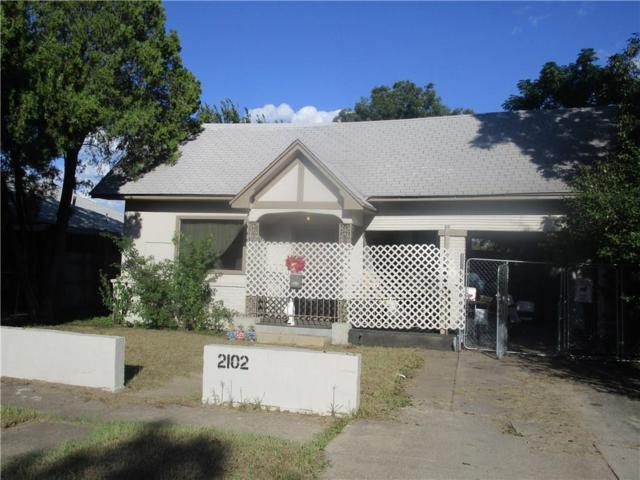 2102 Clinton Avenue, Fort Worth, TX 76164 (MLS #13940708) :: RE/MAX Town & Country