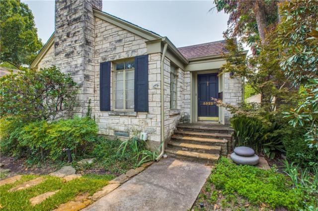 5522 Stanford Avenue, Dallas, TX 75209 (MLS #13940915) :: Frankie Arthur Real Estate