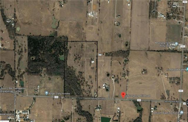 2363 Spring Hill Road, Aubrey, TX 76227 (MLS #13962298) :: The Real Estate Station