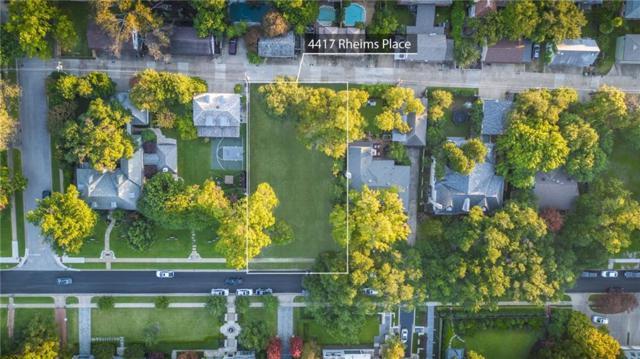 4417 Rheims Place, Highland Park, TX 75205 (MLS #13963497) :: Baldree Home Team