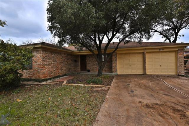2446 Rountree Drive, Abilene, TX 79601 (MLS #13966256) :: The Tonya Harbin Team