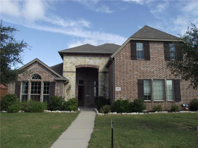 281 Wilson Drive, Prosper, TX 75078 (MLS #13970345) :: RE/MAX Town & Country