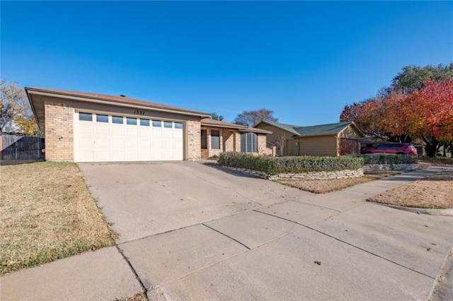 1337 Storm Drive, Bedford, TX 76022 (MLS #13980035) :: The Chad Smith Team