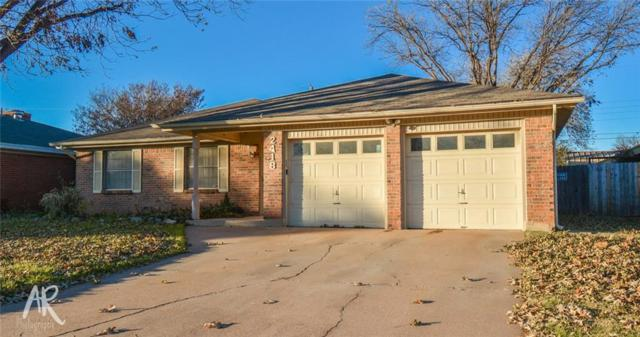 2418 S 38th Street, Abilene, TX 79605 (MLS #13984859) :: Charlie Properties Team with RE/MAX of Abilene