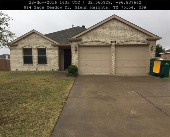 814 Sage Meadow Drive, Glenn Heights, TX 75154 (MLS #13988630) :: Hargrove Realty Group
