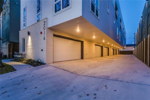 2016 N Fitzhugh Avenue #102, Dallas, TX 75204 (MLS #13989765) :: The Heyl Group at Keller Williams