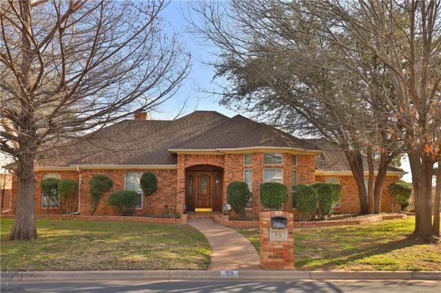 59 Glen Abbey Street, Abilene, TX 79606 (MLS #14031692) :: The Tonya Harbin Team