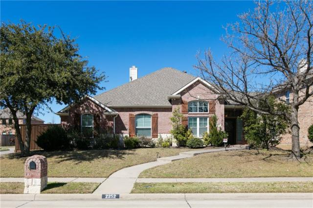 2252 Barret Drive, Frisco, TX 75033 (MLS #14049984) :: HergGroup Dallas-Fort Worth