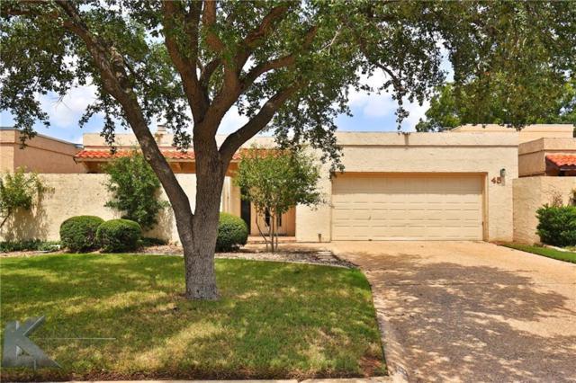 45 Tamarisk Circle, Abilene, TX 79606 (MLS #14082985) :: The Tonya Harbin Team