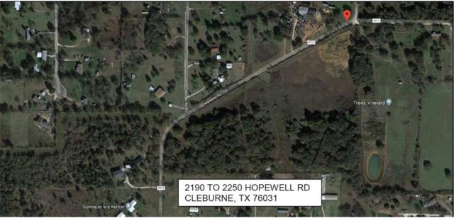 2190 Hopewell Road, Cleburne, TX 76031 (MLS #14085230) :: Potts Realty Group