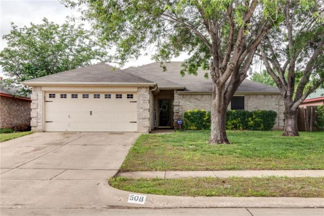 508 Whitney Drive, Saginaw, TX 76179 (MLS #14087636) :: Baldree Home Team