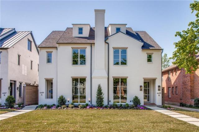 4419 University Boulevard A, University Park, TX 75205 (MLS #14094515) :: RE/MAX Town & Country