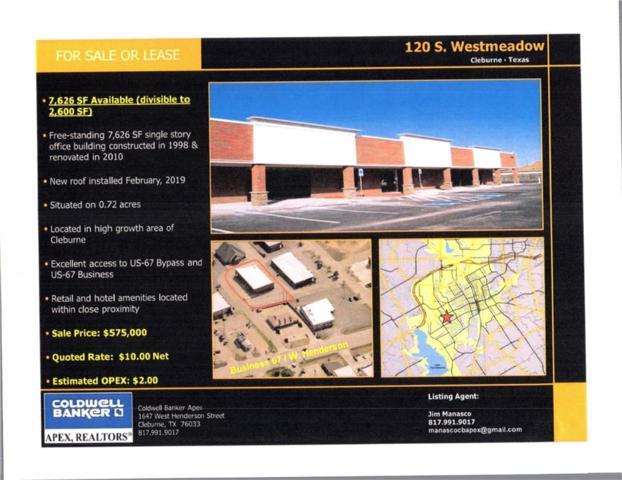 120 S Westmeadow Drive, Cleburne, TX 76033 (MLS #14102839) :: Lynn Wilson with Keller Williams DFW/Southlake