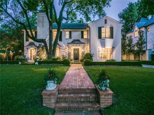 4425 Rheims Place, Highland Park, TX 75205 (MLS #14124918) :: The Heyl Group at Keller Williams