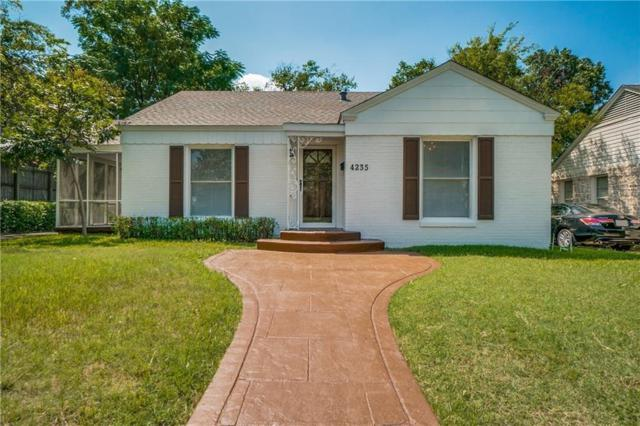 4235 Somerville Avenue, Dallas, TX 75206 (MLS #14124920) :: The Heyl Group at Keller Williams
