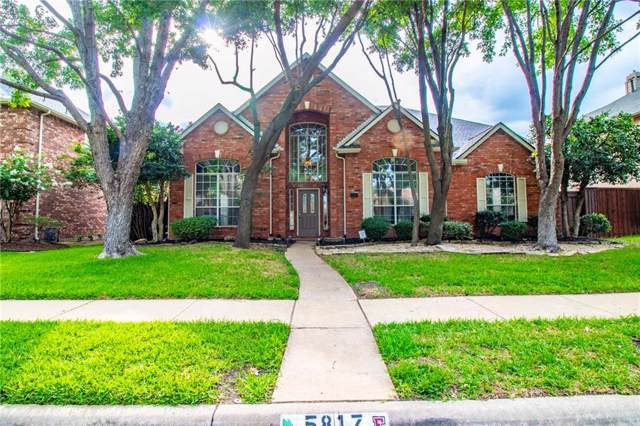 5817 Lafayette Drive, Frisco, TX 75035 (MLS #14124922) :: RE/MAX Town & Country