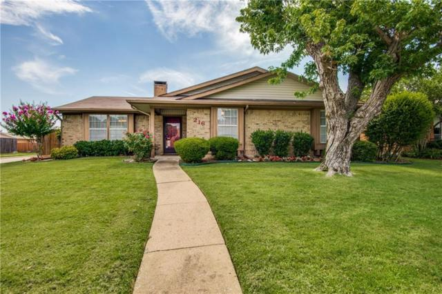 216 Heather Glen Drive, Coppell, TX 75019 (MLS #14134508) :: RE/MAX Town & Country