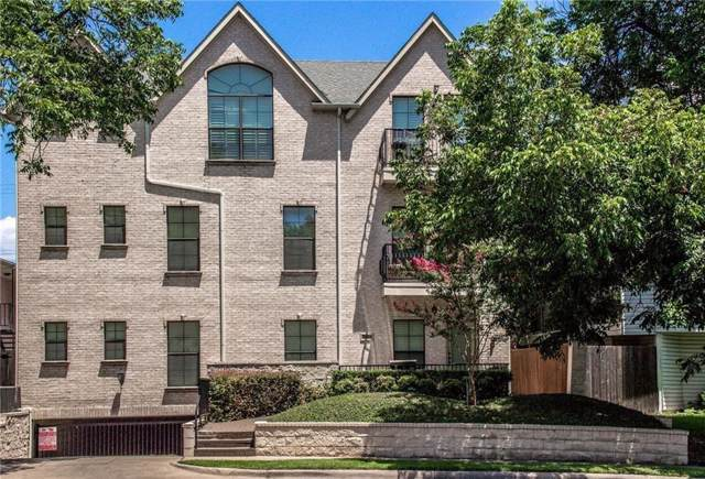 3208 Daniel Avenue B, University Park, TX 75205 (MLS #14137336) :: Lynn Wilson with Keller Williams DFW/Southlake